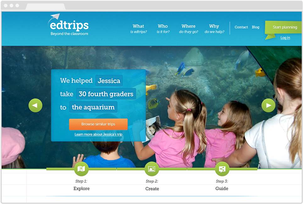 Edtrips Landing Page