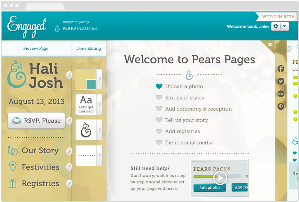 PPears Pages Web App, Admin Dashboard