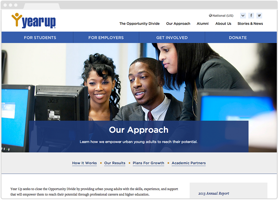 Yearup Secondary Page, Our Approach